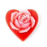 Rose heart candle Stock Photo
