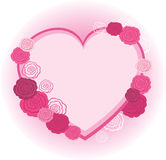 Rose heart frame Royalty Free Stock Photography