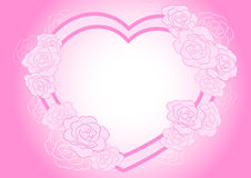 Rose heart frame Royalty Free Stock Images