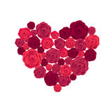 Rose Heart Isolated op Witte Achtergrond Stock Foto