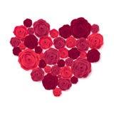 Rose Heart op Witte Achtergrond Royalty-vrije Stock Fotografie