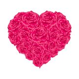 Rose heart over white. Royalty Free Stock Photos