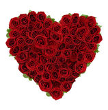 Rose Heart. Red roses heartshaped with leaves Royalty Free Stock Images