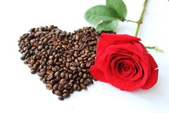 Rose and heart Royalty Free Stock Photo