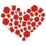 Rose Heart Shape ilustración del vector