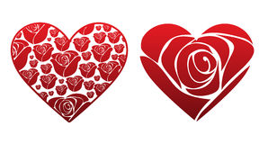 Rose Hearts Royalty Free Stock Photos