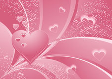Rose_hearts Immagine Stock