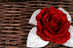 Rose and Hearts Stock Photography