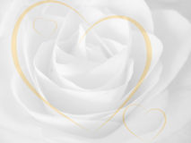 Rose and hearts background Royalty Free Stock Photo