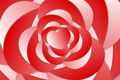 Rose of hearts design Stock Images