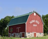 Rose Hill Barn stock image
