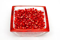 Rose hip berrys in a glass bowl Royalty Free Stock Photos