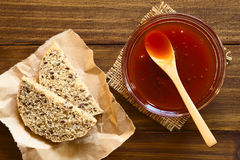 Rose Hip Jam and Bread Stock Images