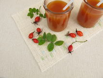 Rose hip soup in glass Stock Images