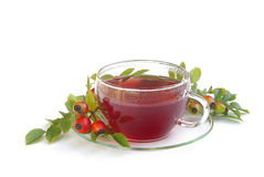 Rose hip tea 01. Tisane, rose hip tea , herbal infusion stock photos