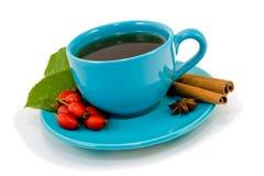 Rose Hip Tea. Rose hip herb tea on white background stock photo