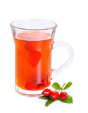 Rose hip tea with fresh berries Stock Image