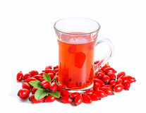 Rose hip tea with fresh berries Stock Photos