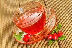 rose hip tea with fresh berries Stock Image