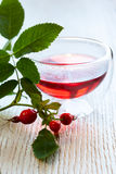 Rose hip tea. Fresh herbal rose hip tea stock photography