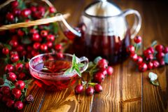 Rose hip tea. On a wooden background stock photos
