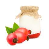 Rose hip yogurt Stock Image
