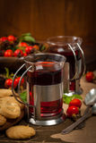 Rose Hips Herbal Tea photographie stock libre de droits