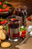 Rose Hips Herbal Tea image stock