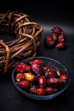 Rose hips and licorice root Royalty Free Stock Photos