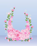 Rose horseshoe Stock Images