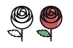 Rose. Illustration of rose Stock Images
