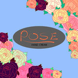 Rose illustration. Colorful cute funny Royalty Free Stock Photography