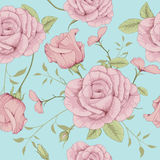 ROSE ILLUSTRATION PATTERN. This is illustration of flower pattern Stock Photos