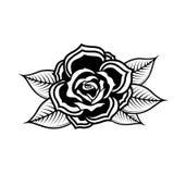 Rose illustration in tattoo style. Design element for oster, emblem, sign,t shirt. Vector illustration Stock Photos