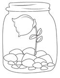 Rose inside a jar coloring page Stock Photo