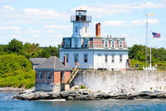 Rose Island Lighthouse Royalty Free Stock Photography