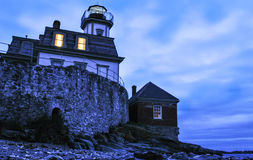 Rose Island Lighthouse fotografie stock libere da diritti