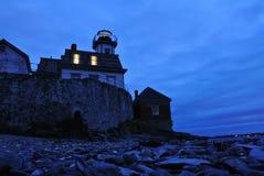 The Rose Island Lighthouse stock photo