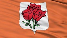 Rose Island Micronation Close Up Waving Flag stock video footage
