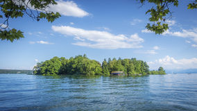 Rose Island Stranberg Lake Bavaria Allemagne photographie stock libre de droits