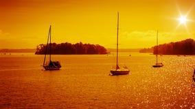 Rose island sunset Royalty Free Stock Images