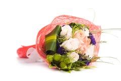 Rose isolate sui precedenti bianchi Fotografie Stock