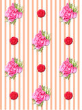 Rose and ivy background Royalty Free Stock Photos