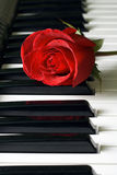 Rose and keys Stock Photography