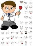 Rose Kid-expresionreeks van het artsenbeeldverhaal Royalty-vrije Stock Afbeelding