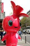 Rose la mascotte Photo stock