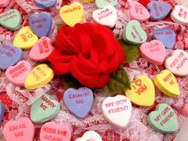 Rose, Lace and Hearts Stock Image
