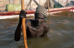 Rose Lake - Senegal Royalty Free Stock Photo