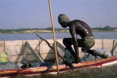 Rose lake - Senegal Stock Photo