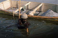 Rose lake - Senegal Royalty Free Stock Photography